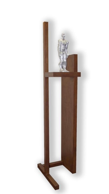ATURAT A L'ESPAI / acer i alumini / 226x70x47 cm / 2011
