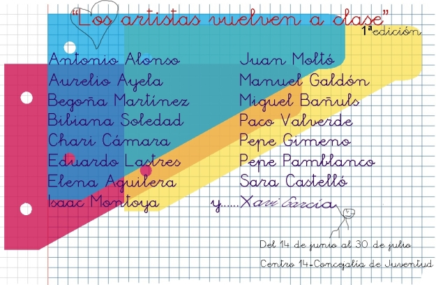 Expo Los artistas vuelven a clase Alicante Juventud Centro 14 Junio 2013