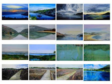 Serie paisajes apropiados 18x30 cada uno